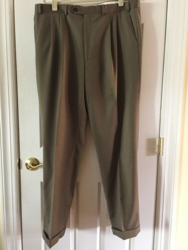 Ralph Lauren Mens 100% Wool Suit 44 Lord & Taylor Olive image 9