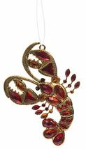 Crystal Expressions Metal Gold Toned Lobster Ornament w/Acrylic Crystals - $11.76
