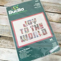 Joy To The World Counted Cross Stitch Kit By Bucilla Christmas Heirloom #82023 - $11.88