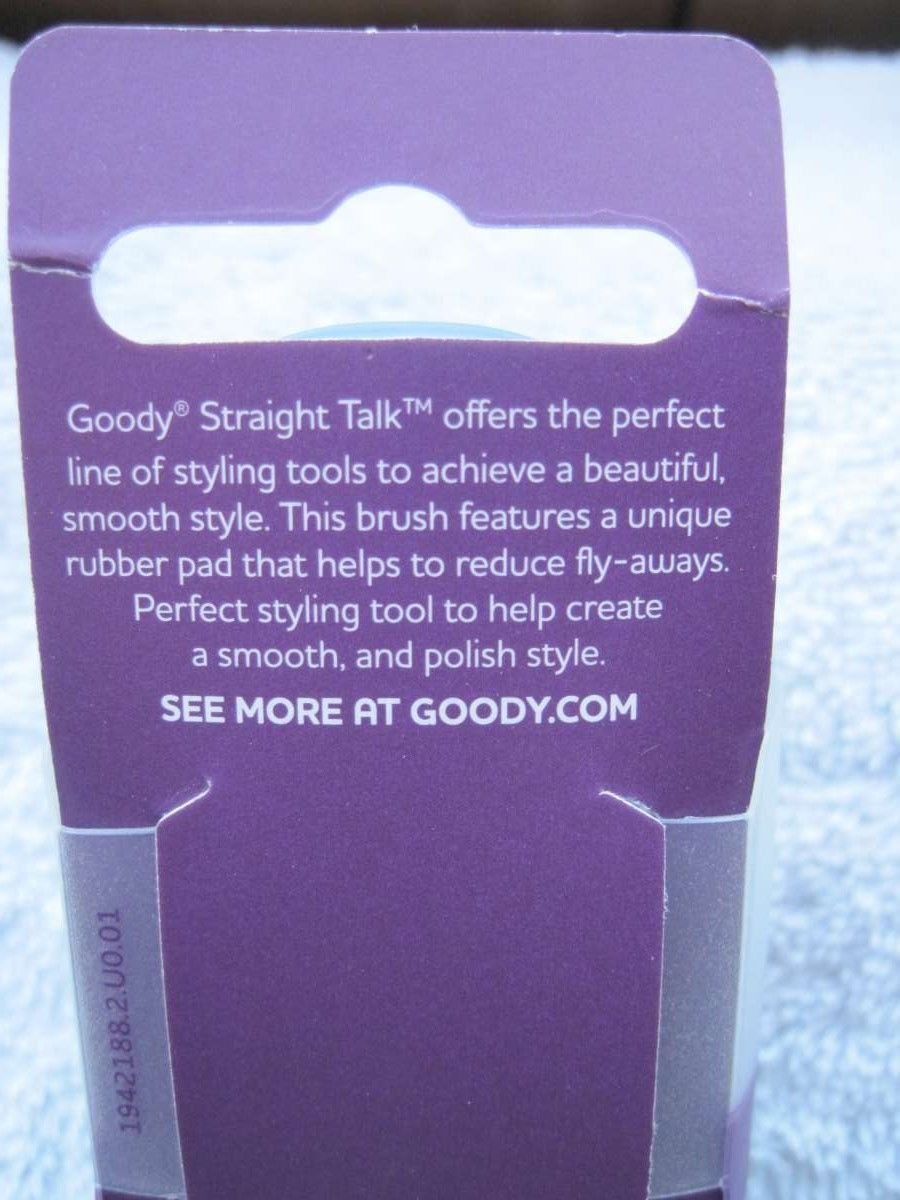 Goody Straight Talk Controlled Styling Rubber Base Plastic Purse Hair Brush 2015