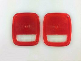 Acrylic Rear Tail Light Lens Set Compatible with Jeep Wrangler CJ 76-86 TJ YJ image 4