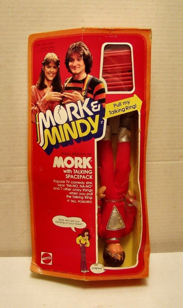 1979 Mattel Mork w-talking backpack 9in doll -MIB - $54.45