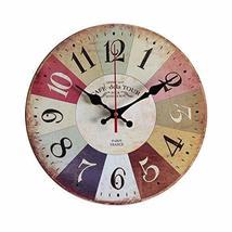 PANDA SUPERSTORE Retro Nostalgia Wooden Wall Clock Vintage Look Home Decoration( - $41.54