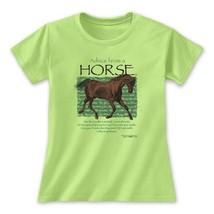 Horse Novelty Ts T-shirt Gildan XL XXL NWT Advice Cotton Green New - $20.20
