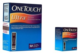 One Touch Ultra Blood Glucose Test Strips 50 Test Strips By One Touch  F... - $29.06