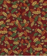 1 Fat Quarter, Forest Fancy, Moda Quilt Fabric, Acorns, Autumn,Fall Leaves, Nice - $3.30