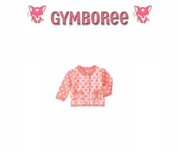 "Gymboree Baby girls ""Animal Friends"" Reverse Dot Cardigan Sweater New 6-12 M - $22.72"