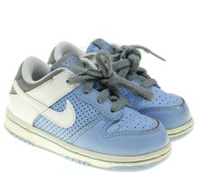 32d44aaa9855 Nike Dunk Low Infant Toddler Blue White Retro Sneakers Shoes Size 6C 316.