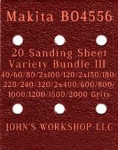Makita BO4556 - 17 Different Grits - 20 Sheet Variety Bundle III - $18.97