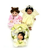 Lot of 2 Small Porcelain Dolls and Marie Osmond Princess Rosebud Ornament - $63.35
