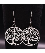 2020 Tree of Life Stainless Steel Statement Earrings for Women Big Hollo... - $8.97