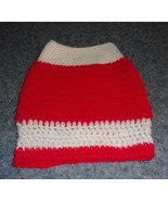 Brand New Hand Crocheted Red White Dog Snood Neck Warmer For Dog Rescue ... - $12.74