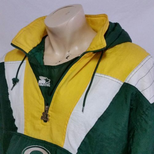 online store 7b9a2 f89a3 VTG Green Bay Packers Starter Pullover Parka and 16 similar ...