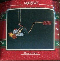 1990 New in Box - Enesco Christmas Ornament - Hang in There - #566055 - $8.90