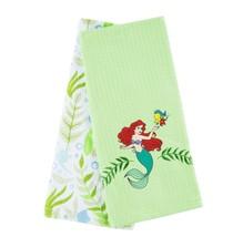 Disney Parks Ariel & Flounder Cotton Dish Towels Set New with Tags - $28.45
