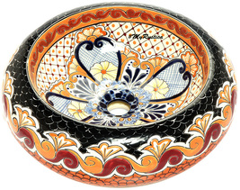 "Mexican Ceramic Bathroom Sink ""Riverside"" - $260.00"