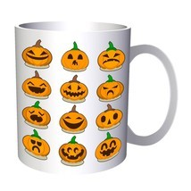 Scary Halloween Pumpkin 11oz Mug q180 - £8.31 GBP