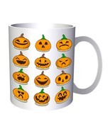 Scary Halloween Pumpkin 11oz Mug q180 - $14.28 CAD
