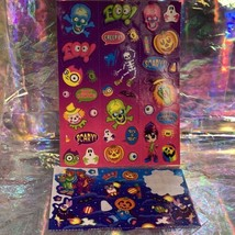 VTG Lisa Frank COMPLETE Halloween Holiday Sticker Sheet & Incomplete Mods 90s