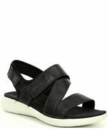 ECCO Womens Soft 5 Cross-Strap Sandal Black/Black Size 10-10.5 US 41 EU - $74.76