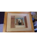 Taos New Mexico Pueblo Mission Church, Frame & Matted Photograph by WJ M... - $148.50