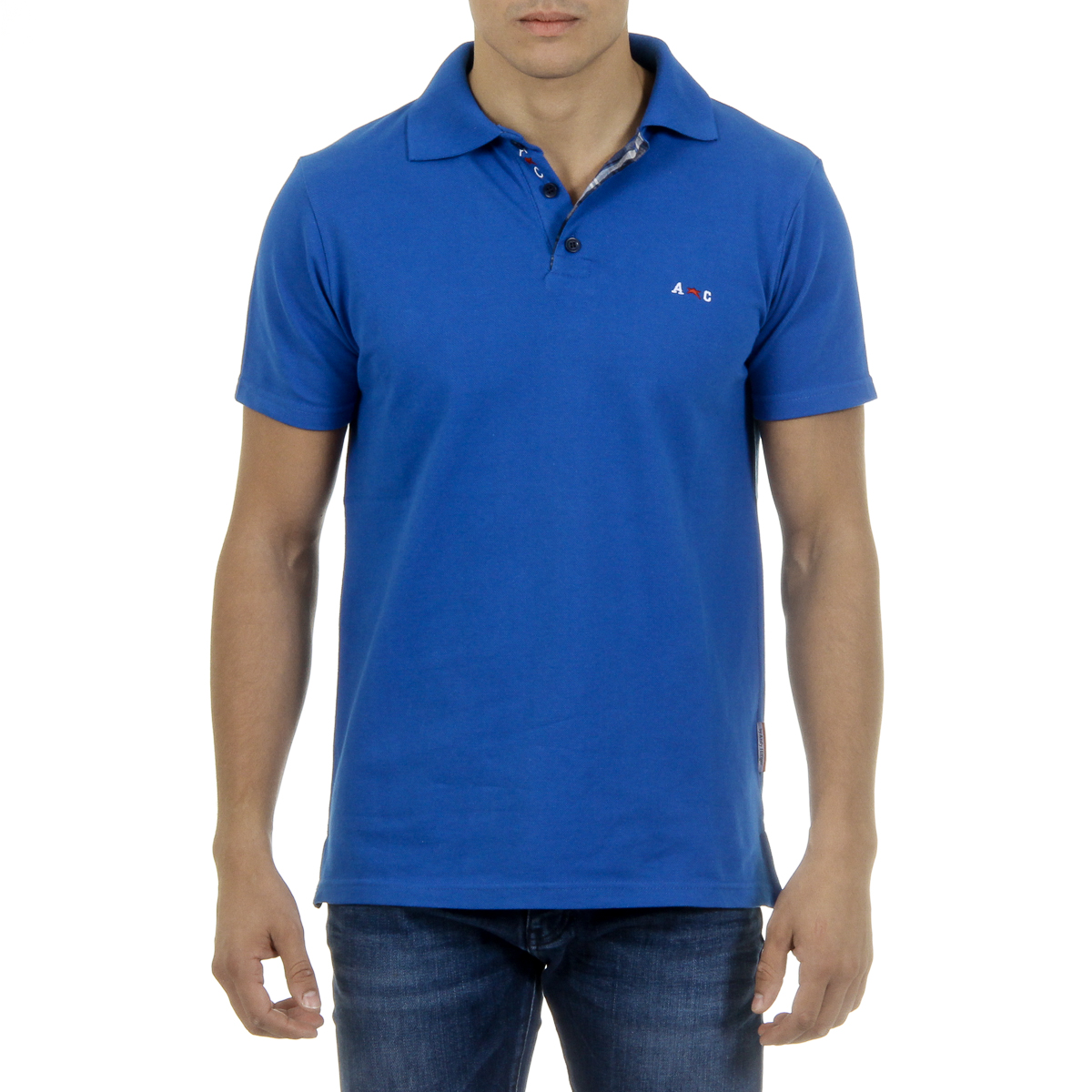 Primary image for Andrew Charles Mens Polo Short Sleeves Blue SEMELO