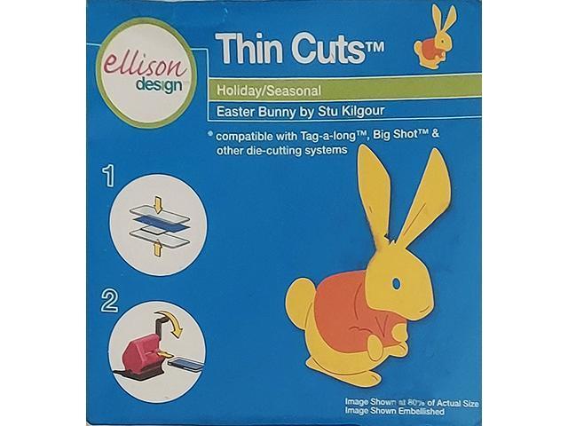 Ellison Design Thin Cuts Easter Bunny Die #22161