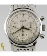 Tissot Chronographe Mvmt 1281 Vintage Acier Inoxydable Homme Montre Avec - $3,953.87
