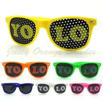 YOLO Lens Sunglasses Colorful Neon Classic Horn Rim Frame Unisex 6 Color... - $6.95