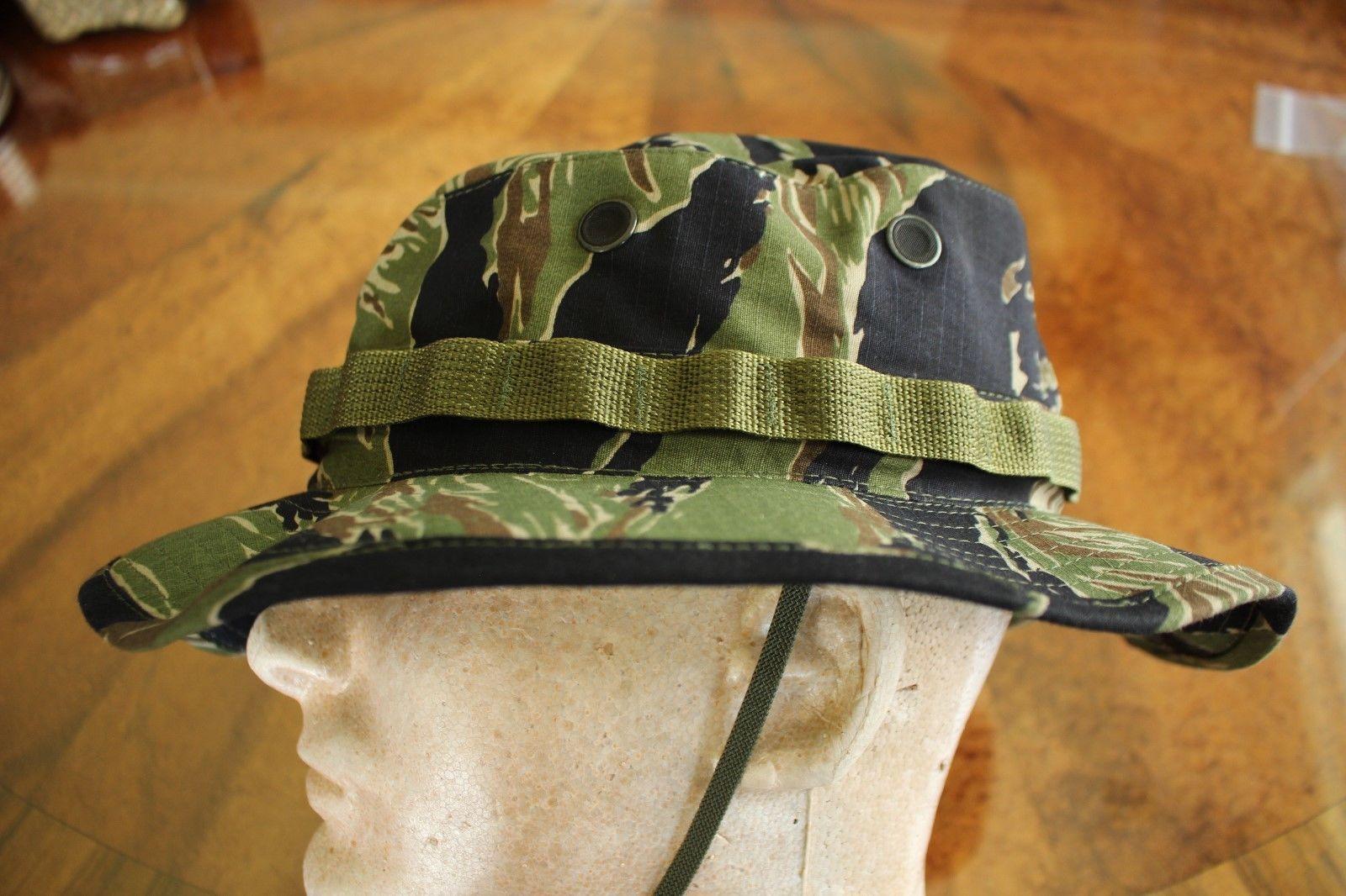 e1b919e3418 US ARMY TIGER STRIPE VIETNAM BDU RIPSTOP CAMO UNIFORM FLOPPY HAT BOONIE CAP  7.0