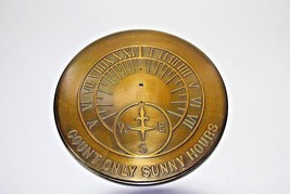 "ROME INDUSTRIES 10.5"" BRASS SUNDIAL ""COUNT ONLY SUNNY HOURS"" No Gnomon i... - $23.99"