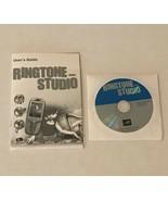 RingTone Media Studio CD-ROM PC Computer Software Program Manual and Disk - $9.99