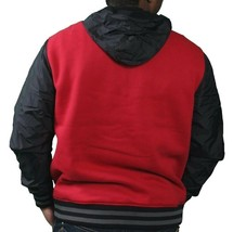 Skullcandy Mens Red State Fleece Zip Up Hoodie Jacket w Nylon Sleeves & Hood Lrg image 2