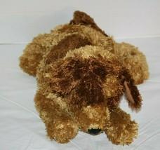 "Commonwealth Floppy Plush Dog 18"" Stuffed Tan Brown Eye Spots 2005 Soft ... - $32.89"