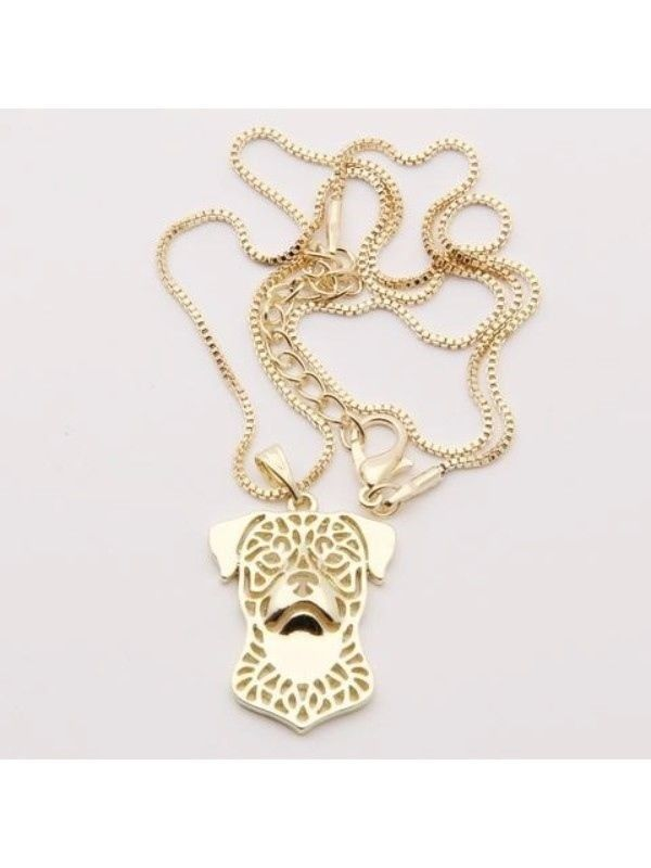 Necklace Rottweiler Silver Plate or 14k Gld Plate Proceeds Go to Animal Rescue