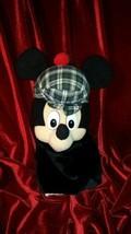 "Disney Store 11"" Mickey Mouse Hand Puppet w/ Scottish Hat 3+ Boys & Girls - $27.71"