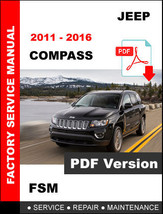 JEEP COMPASS DIESEL 2011 2012 2013 2014 2015 2016 SERVICE REPAIR MANUAL - $14.95