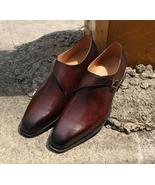 Leather monk shooes for men thumbtall