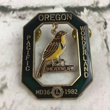 Oregon Pacific Wonderland Meadowlark Pin Lapel Tack Collectible Vintage ... - $11.88