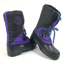 Kamik Vintage Genuine Arctic Wear Womens 7 Winter Boots Purple Black Lined - $46.34