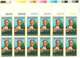 1978 Black Heritage Harriet Tubman Plate Block of 12 Stamps Catalog 1744 MNH