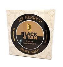 Black & Tan Luxury Shaving Soap. Tonka & Sandalwood. Rich Lather Gives a Smooth  image 3