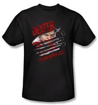 Dexter TV Series Blood Never Lies Over Face with Name T-Shirt 2XL NEW UN... - $17.41