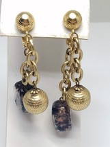 Crown Trifari Clip On Vintage Hanging Earrings - $17.99