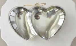 Plastic Gold Chrome Double Heart Container Ornament Favor Fillable - €5,16 EUR