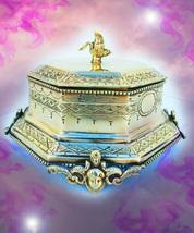 HAUNTED SWAN BRASS BOX ILLUMINATI 100,000X MULTIPLY WEALTH  MAGICK MYSTI... - $1,777.77