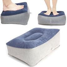 Inflatable Footrest Pillow Travel Home Help Reduce DVT Risk Trips Flight... - $33.44 CAD