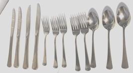 ONEIDA STAINLESS STEEL WYNDHAM 1991 12 pc Lot forks knives teaspoons - $14.35
