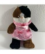 Bear Factory Cat Plush Carnival Cruise Princess Sash Pink Dress Stash Po... - $16.83