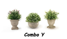 Small Artificial Topiary Plant in Pot Simulation Plant Home Decor Fake P... - $18.80+